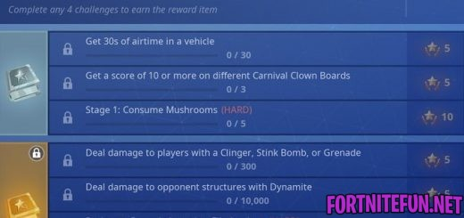 Fortnite Challenges Season 6 Week 9 Challenges