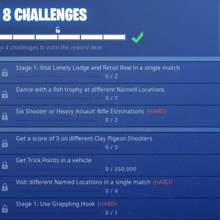 Fortnite Season 6 Week 8 Leaked Challenges