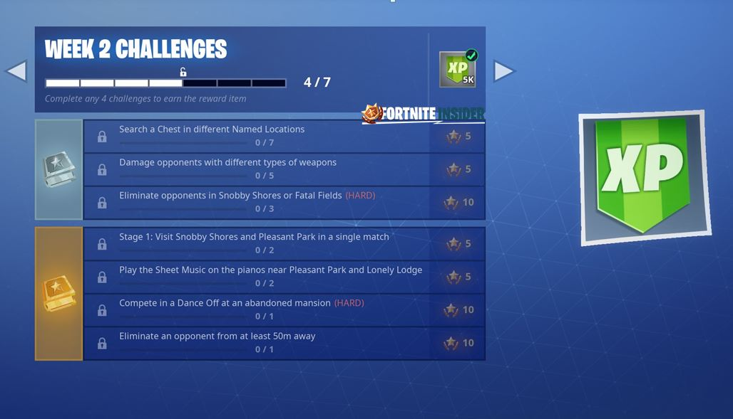 Season 7, Week 2 Fortnite challenges (Leak) | Fortnite