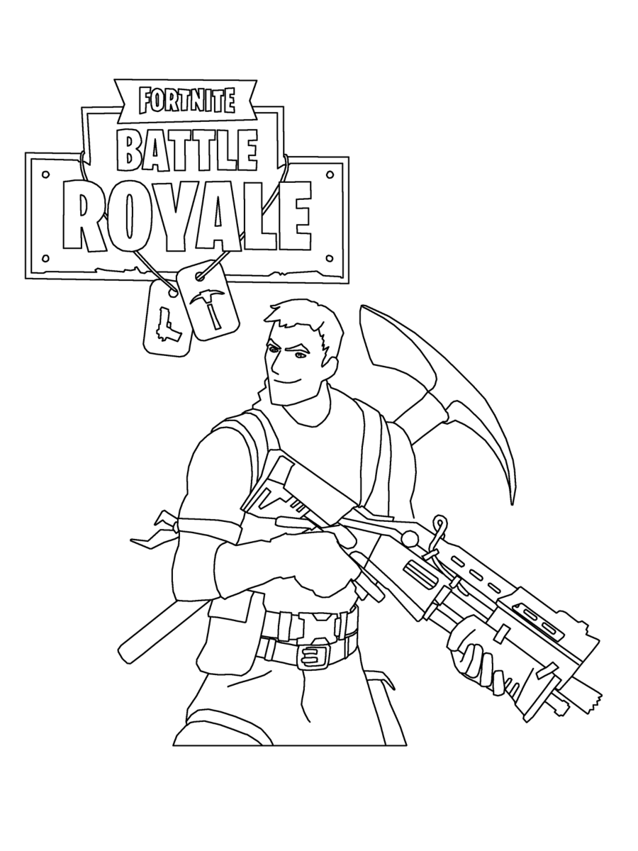 1 - Fortnite coloring pages