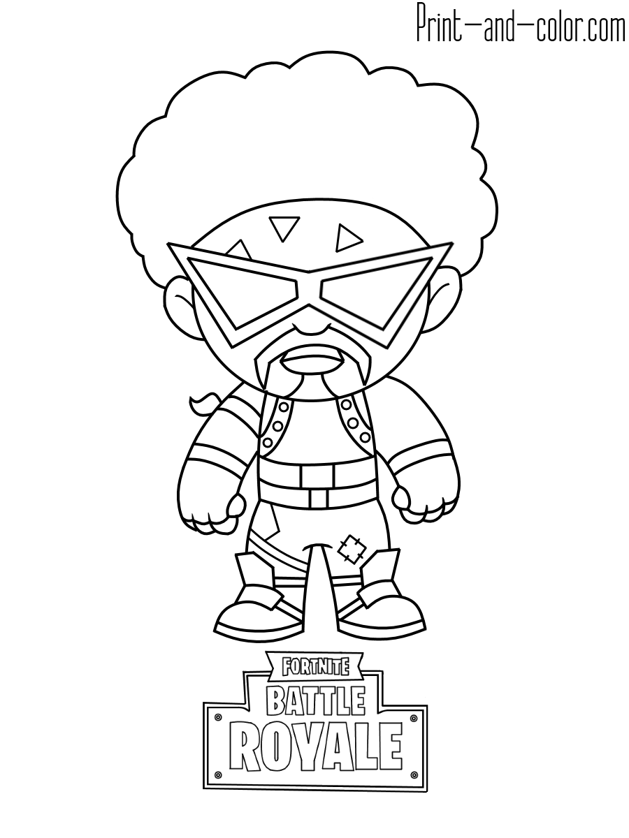 10 - Fortnite coloring pages