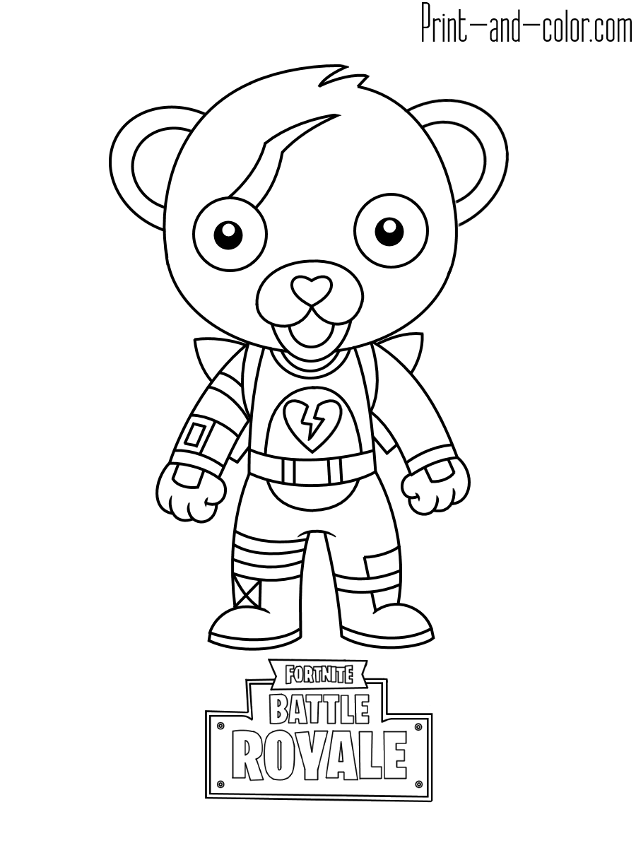 3 - Fortnite coloring pages