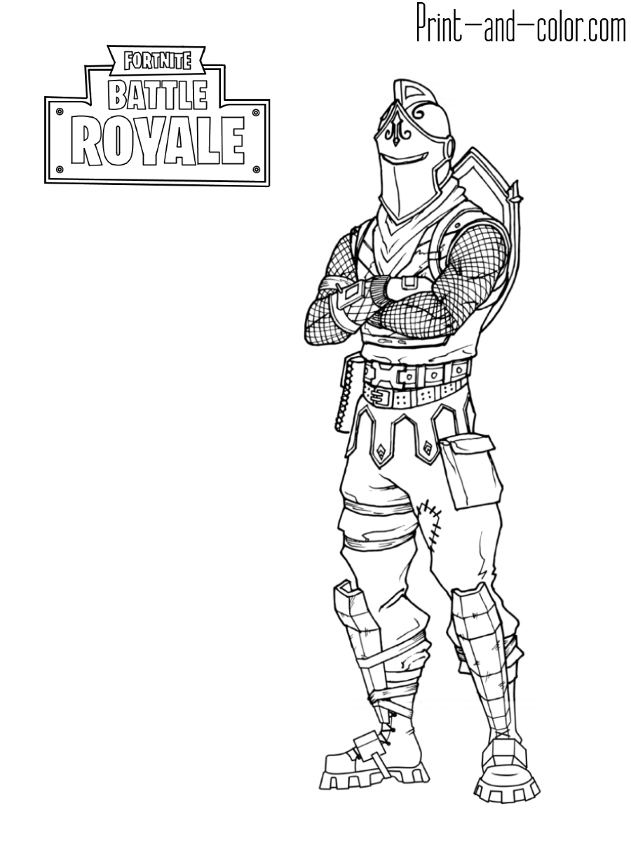 4 - Fortnite coloring pages