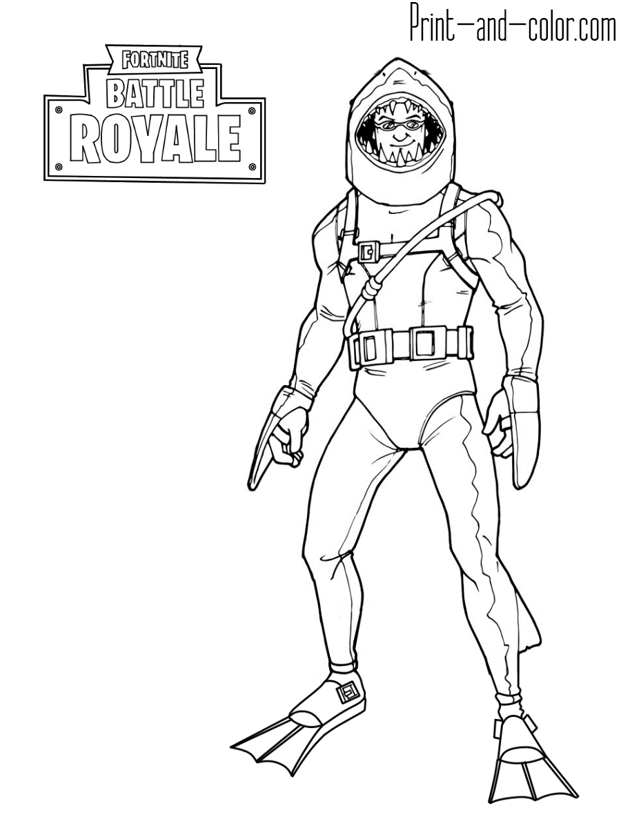 Coloring Pages Fortnite Season 8 Coloring Wall