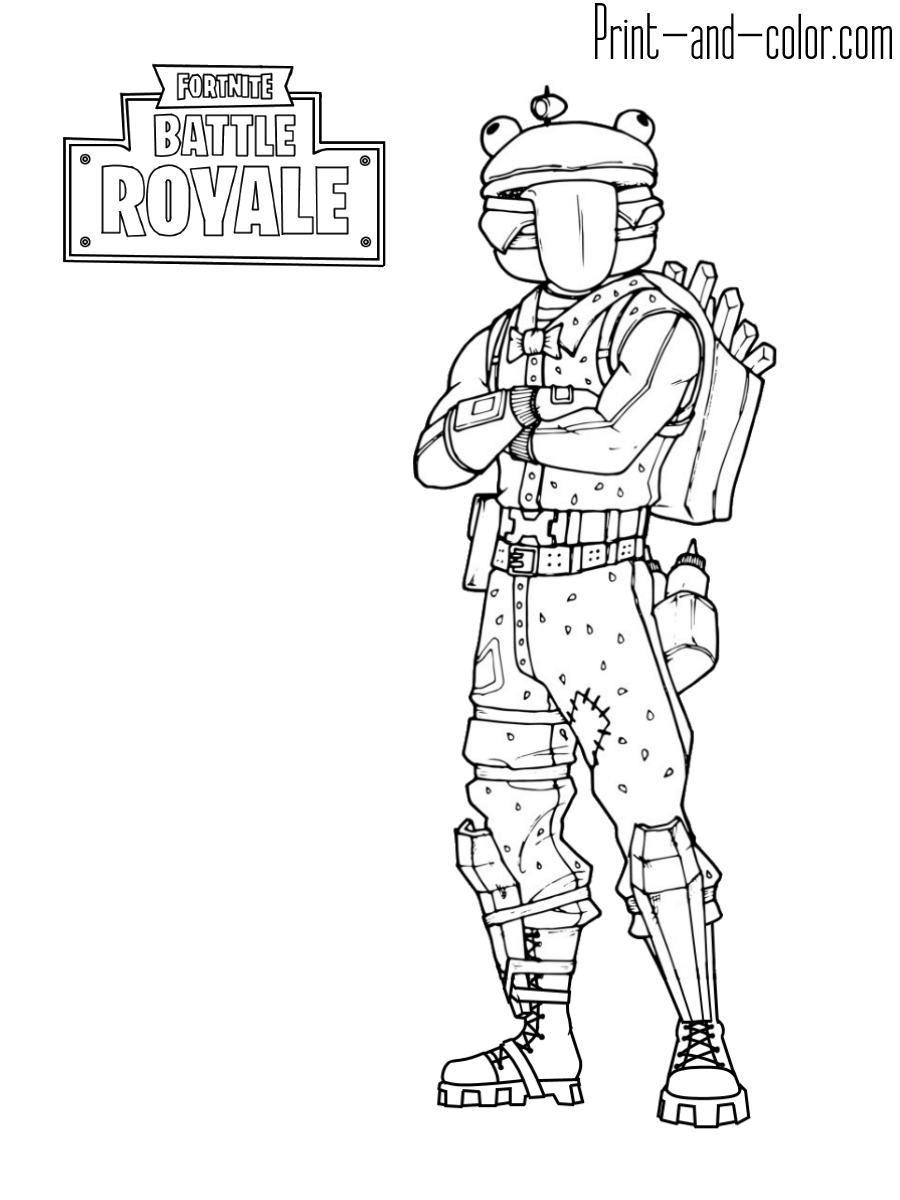 8 - Fortnite coloring pages