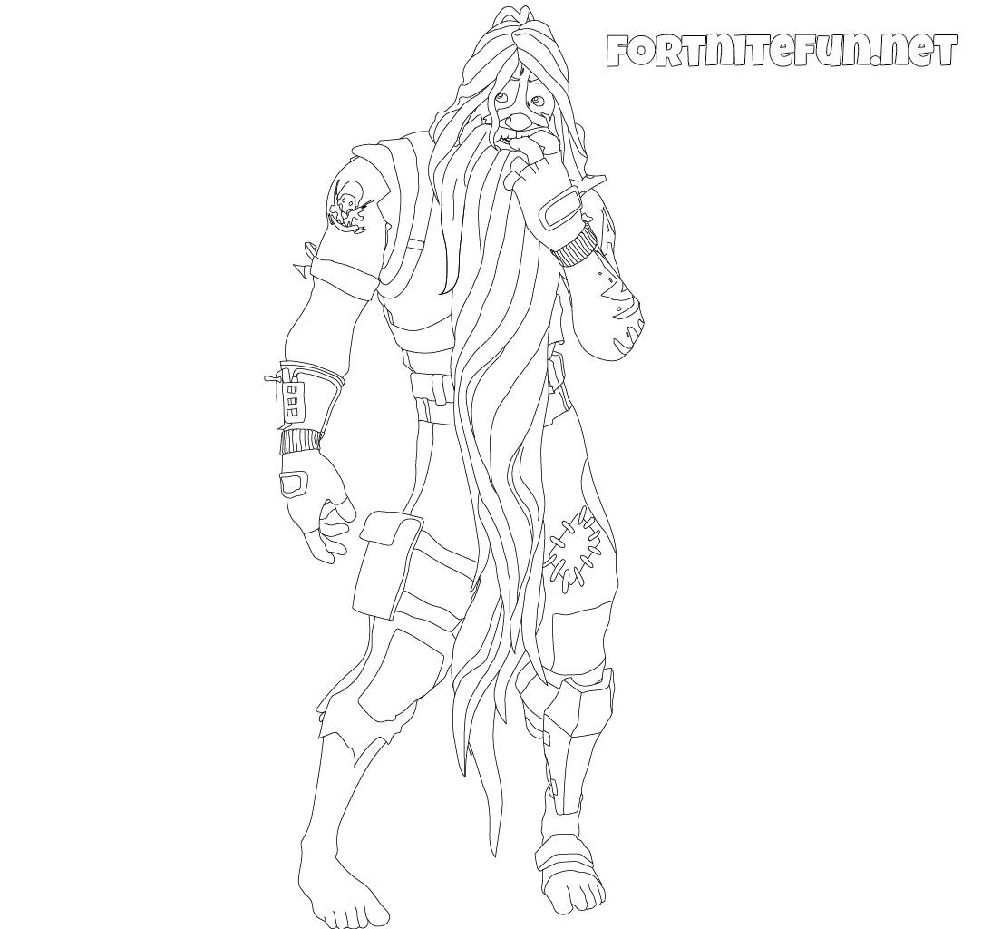Bunker Jonesy Fortnite coloring pages