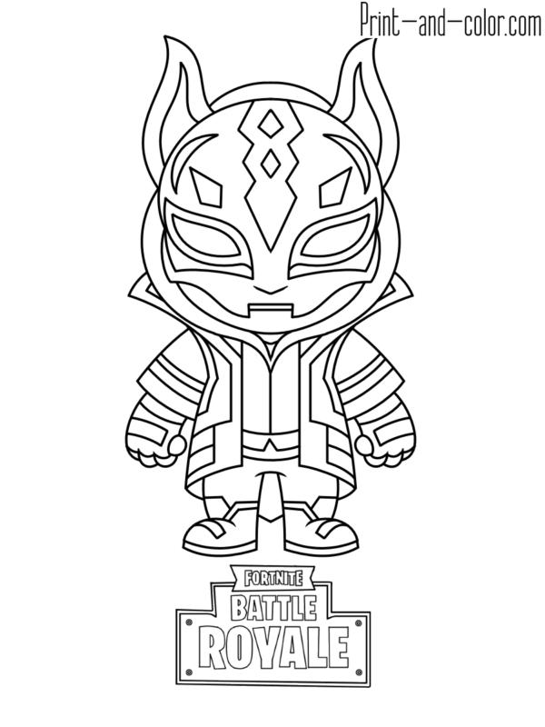 Fortnite coloring pages | Fortnite Battle Royale