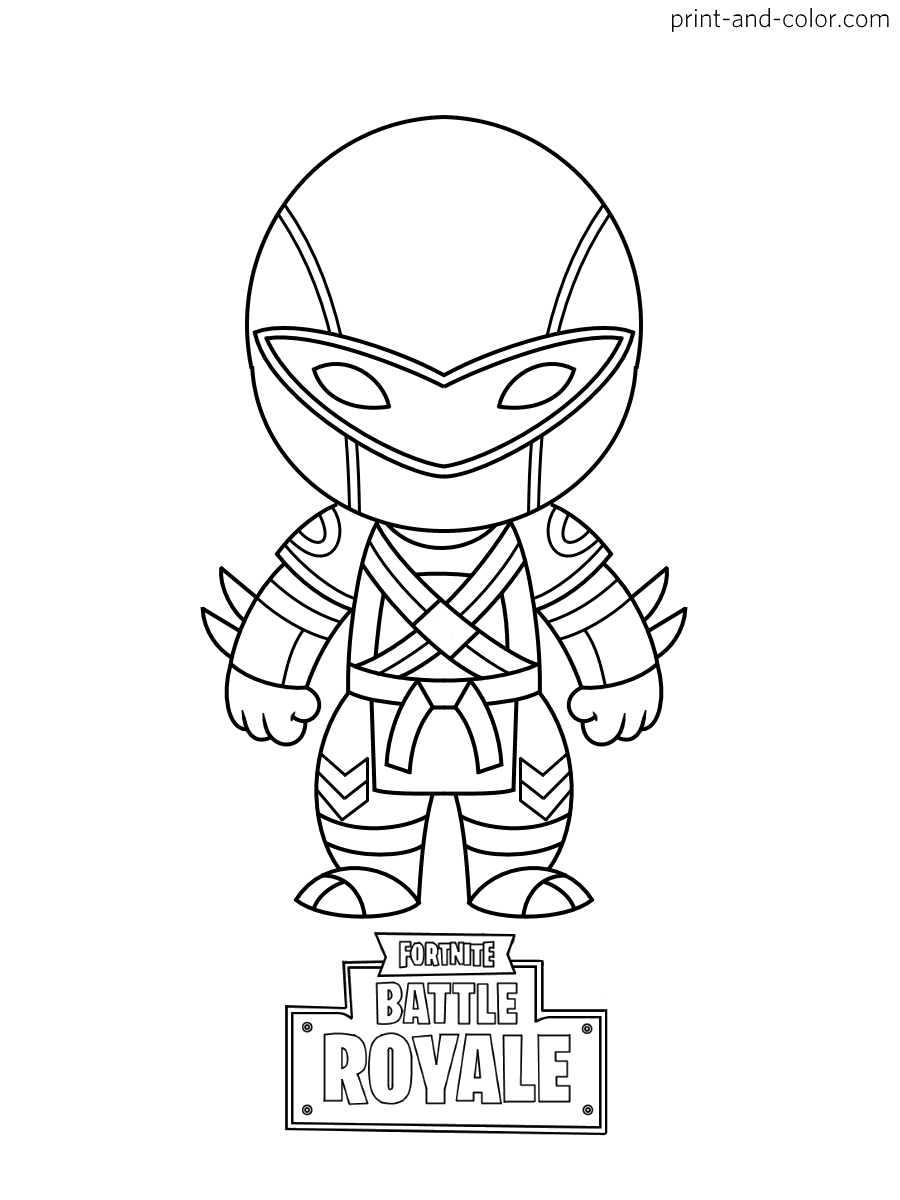 Fortnite coloring pages | Fortnite Battle Royale