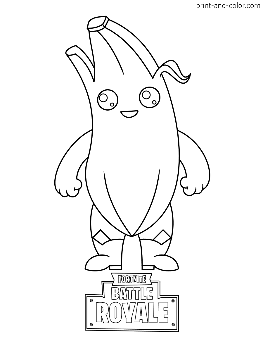 Fortnite Chibi Coloring Pages | V Bucks Free.com