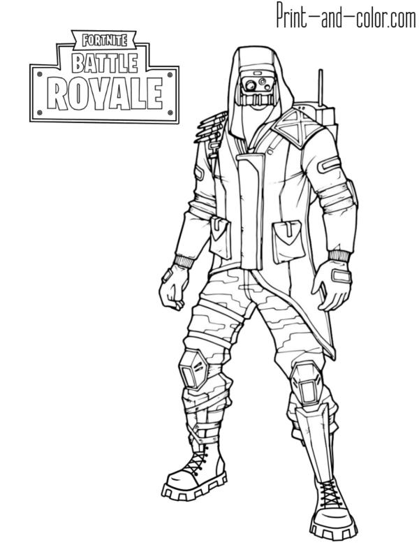 Fortnite Coloring Pages Fortnite Battle Royale