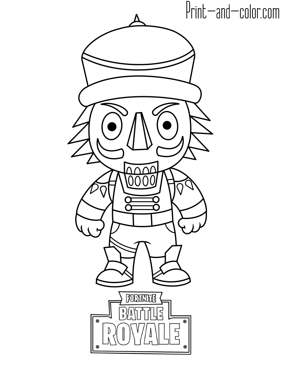 Fortnite coloring pages