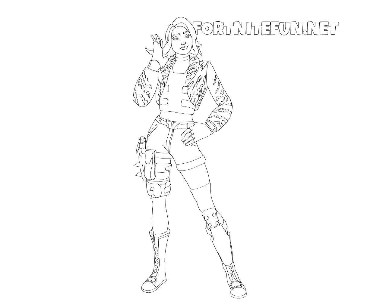 Wilde Fortnite coloring pages