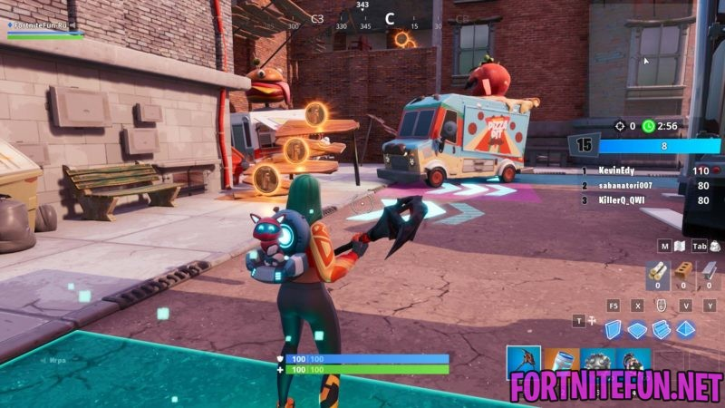 Downtown Drop Challenges Dance or emote between two food trucks