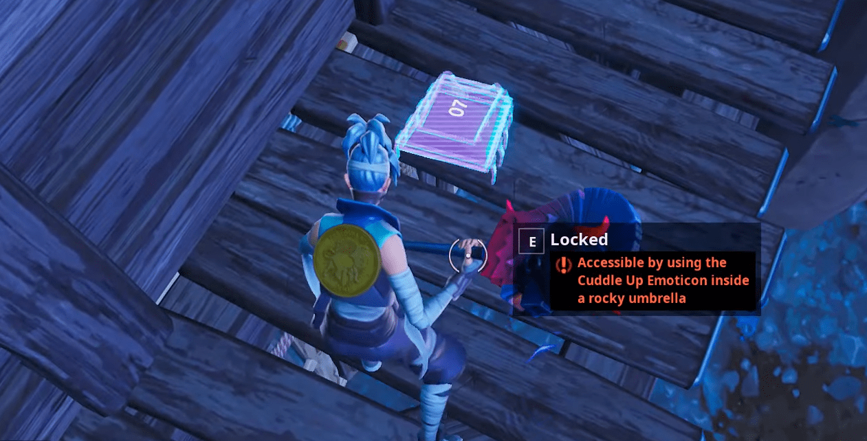 Fortbyte Challenges Accessible By Using The Cuddle Up