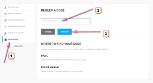 How to redeem a code in Fortnite