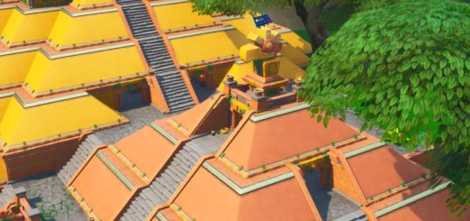 Accessible Atop of The Chicken Temple In Sunny Steps With the Dark Sentinal Outfit Location Guide