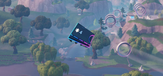 4 520x245 - Fortbyte 4: Accessible by skydiving through the rings above Loot Lake with the Plasma Trail Contrails equipped Location Guide