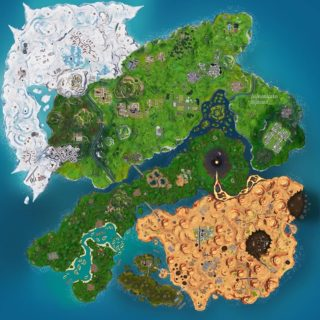 Map of Fortnite Season 10
