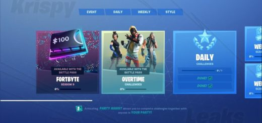 D sCsSyXYAAPokV 520x245 - Fortnite Season 9 Overtime Challenges - Cheat Sheets, Tips, Rewards and more