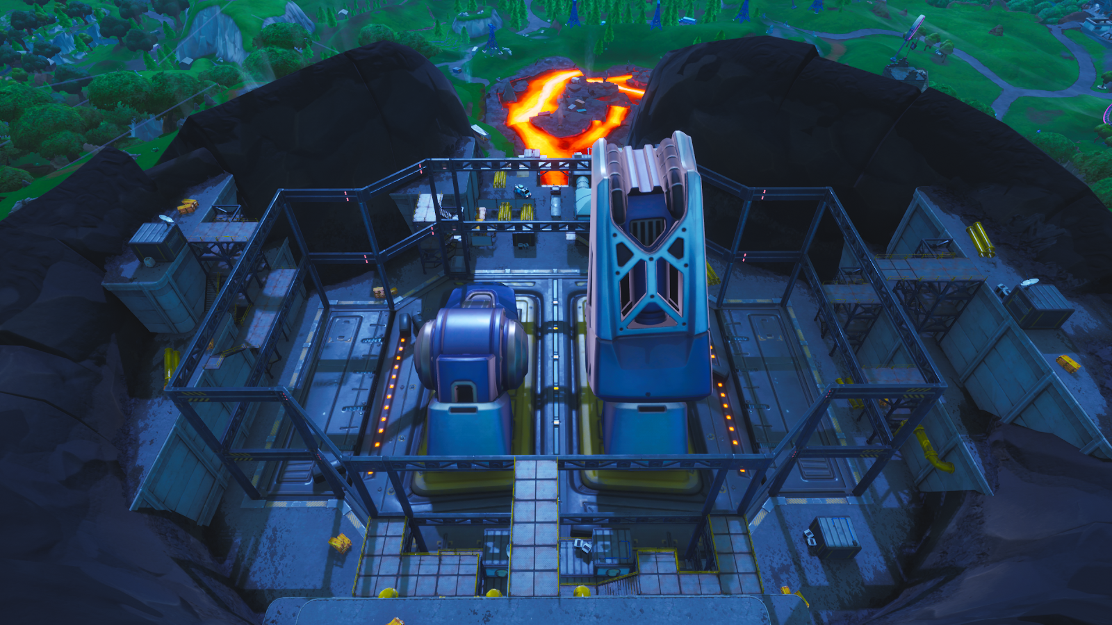 The robot is getting build in Pressure plant | Fortnite