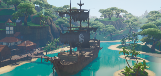 Fortnite Screenshot 2019.07.05 10.50.45.19 520x245 - Collect Wood From A Pirate Ship Or Viking Ship - Week 10 Season 9 Fortnite Challenge Location Guide