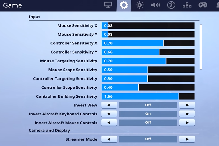 Myth Fortnite Settings
