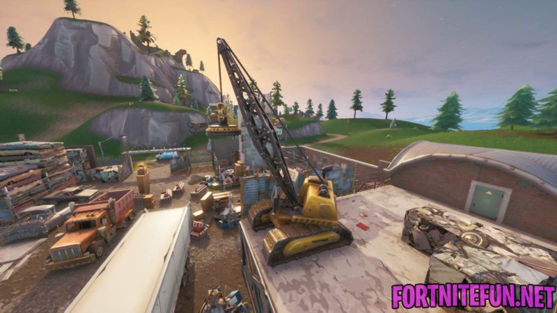 Spray a Fountain, a Junkyard Crane, and a Vending machine - Fortnite Spray & Pray Challenge