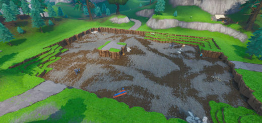 The football stadium near Tilted Town turned into a crater
