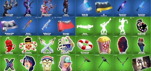 1 520x245 - Fortnite Season 10 (X) Leaks Show New Skins, Pickaxes, Gliders, Back Blings And More In v10.00 Patch