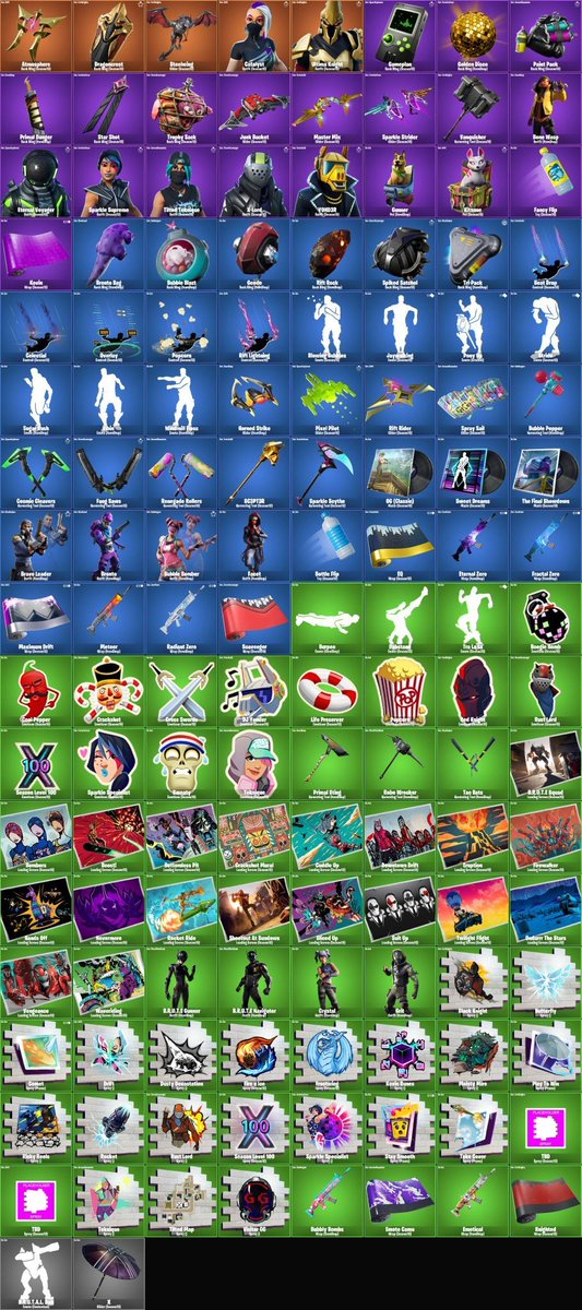 1 - Fortnite Season 10 (X) Leaks Show New Skins, Pickaxes, Gliders, Back Blings And More In v10.00 Patch