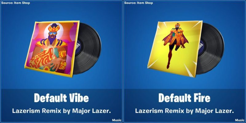 Fortnite x Major Lazer - leaked skins and collaboration details