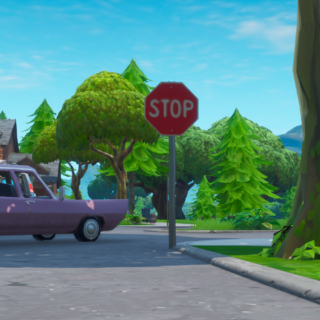Destroy stop signs with the Catalyst outfit - Season 10 Road Trip Challenges