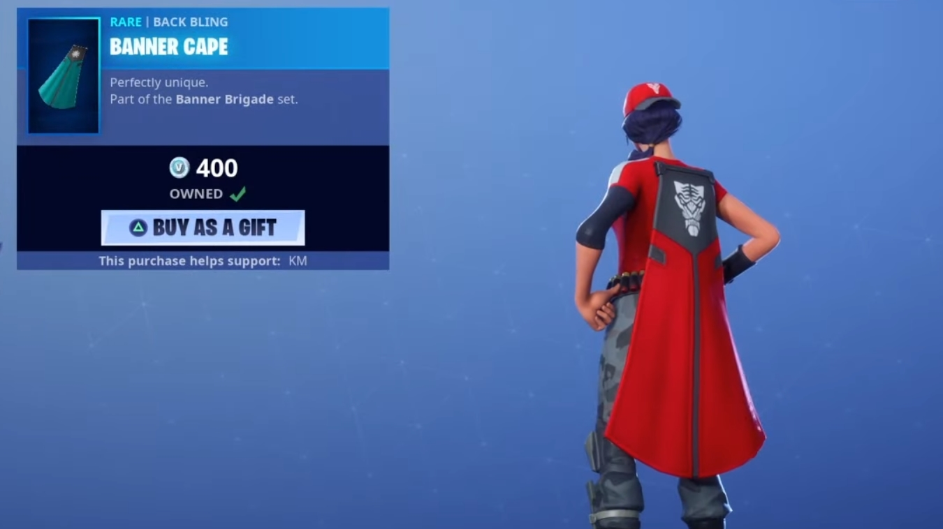 Fortnite Cape how to change banner brigade skins, cosmetics style
