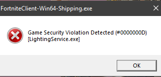 "error 320x154 - Error ""Game Security Violation Detected #00000001, #00000006"" - How to fix?"
