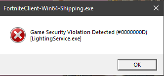 "error - Error ""Game Security Violation Detected #00000001, #00000006"" - How to fix?"