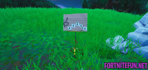 Visit an Oversized Piano and Play The Sheet Music at an Oversized Piano - Fortnite Boogie Down