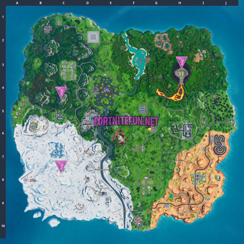800x800 - Land On Polar Peak, A Volcano And A Hill Top With A Circle Of Trees - Fortnite Storm Racers