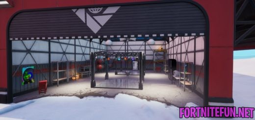 Dance with others to raise the disco ball in an icy airplane hangar - Fortnite Boogie Down