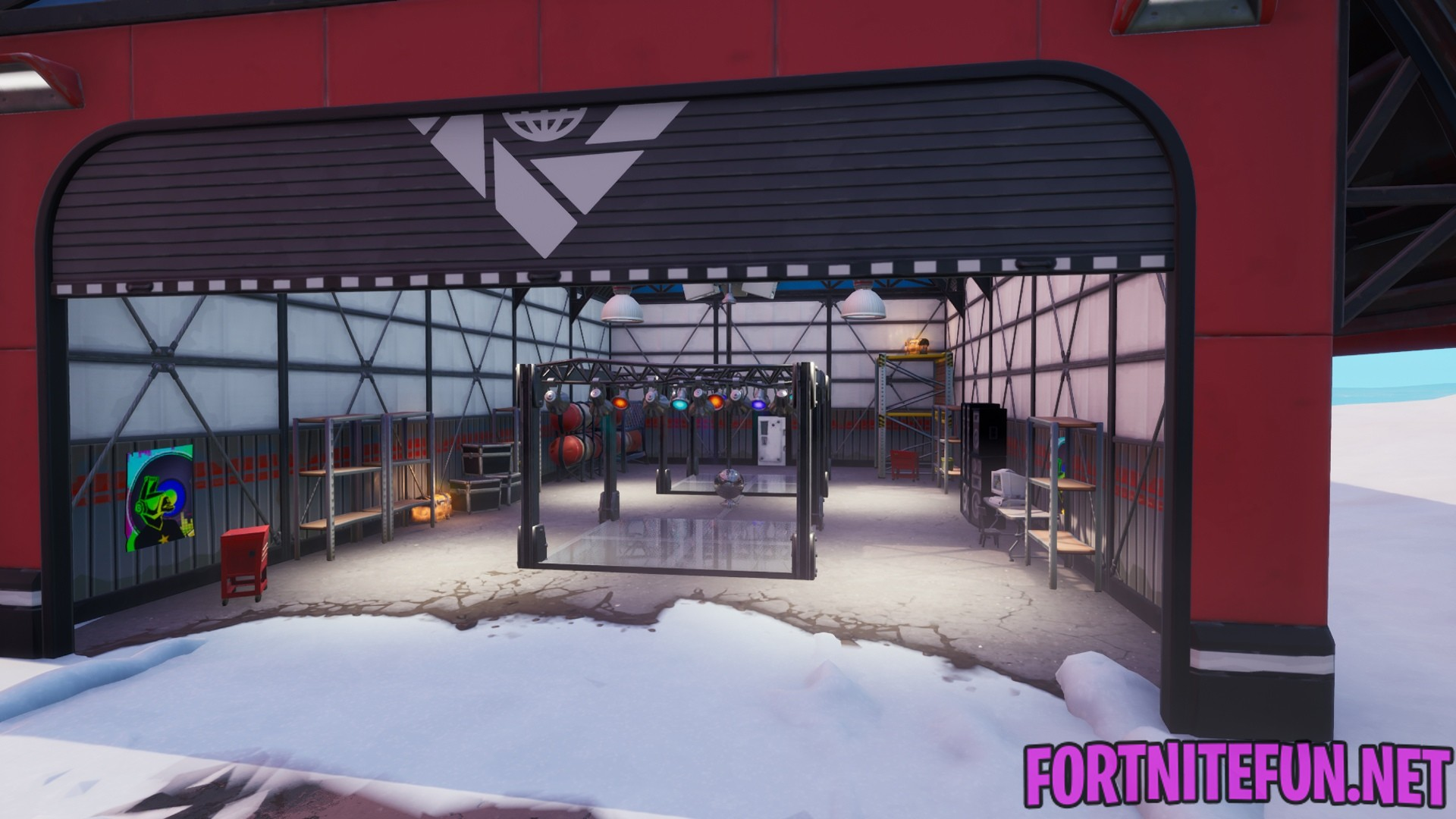 Dance With Others To Raise The Disco Ball In An Icy Airplane Hangar Fortnite Boogie Down Fortnite Battle Royale