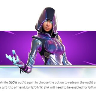 Glow Fortnite Outfit For Samsung Galaxy - The New Fortnite x Samsung Promotion