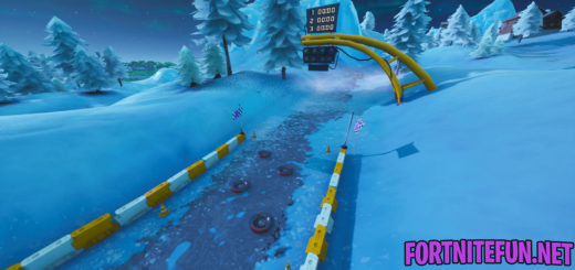 Complete A Lap Of A Race Track - Fortnite Storm Racers Challenges - Snowy Race track