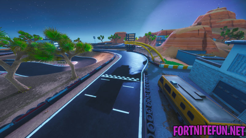 Complete A Lap Of A Race Track - Fortnite Storm Racers Challenges - Desert Race Track