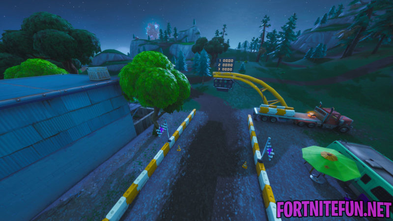 Complete A Lap Of A Race Track - Fortnite Storm Racers Challenges - Complete A Lap Of A Race Track - Fortnite Storm Racers Challenges - Glasslands Race track