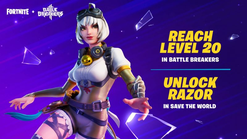 Razor Free Fortnite Skin 800x450 - Fortnite x Battle Breakers - how to get free skins and collaboration details